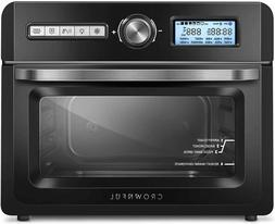 CROWNFUL 19 Quart Air Fryer Toaster Oven, Convection Roaster