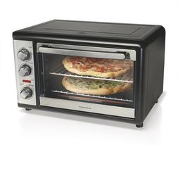 Black XL Countertop Oven With Convection & Rotisserie Fits T