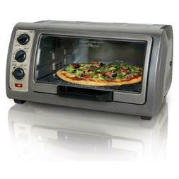 Easy Reach Convection Gray Toaster Oven with Roll Top Door E