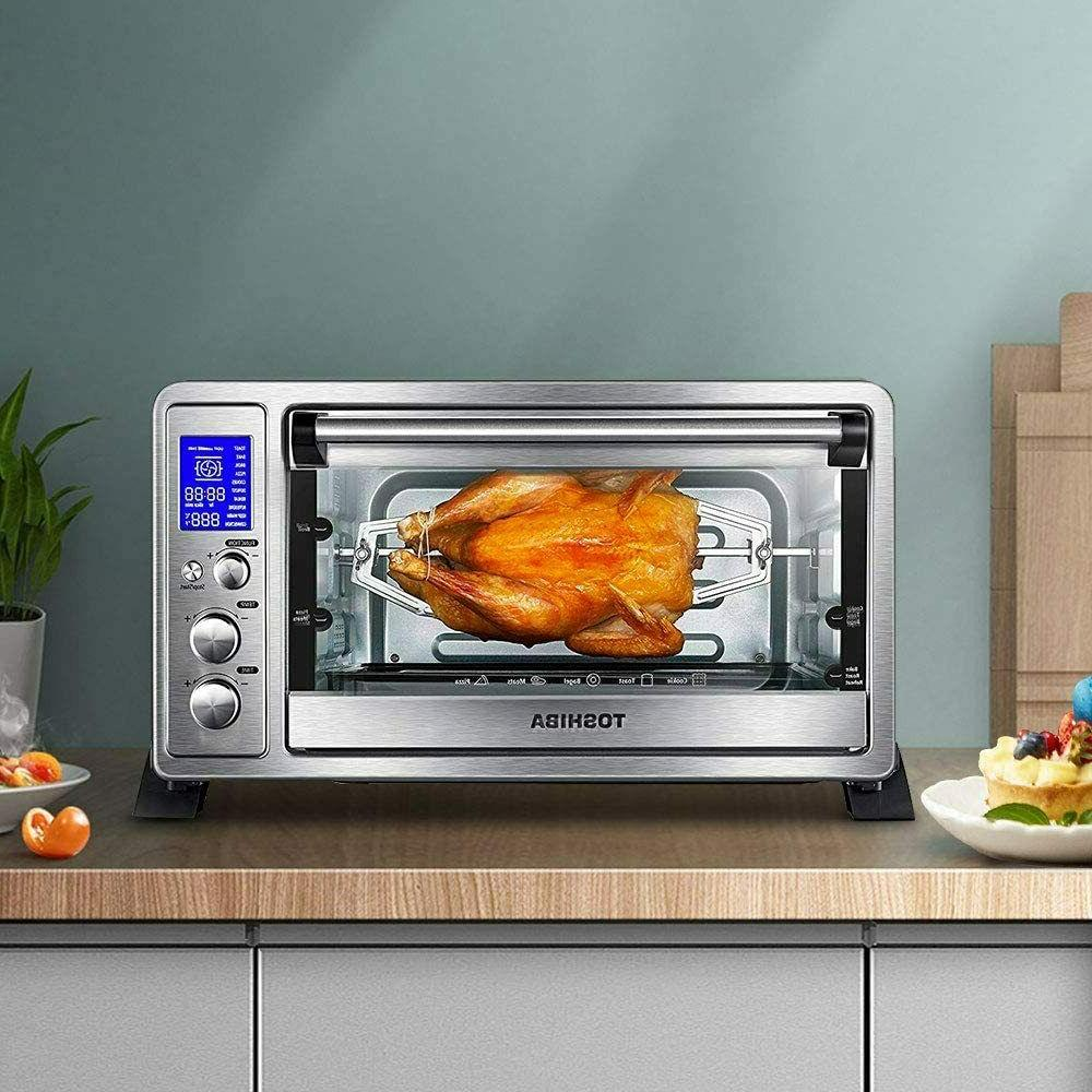 Toshiba AC25CEW-SS Digital Toaster Oven with and 9