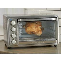 Black & Decker TO4314SSD Rotisserie Toaster Oven, Silver