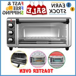 Ear Toaster Oven Extra Wide Convection Counter Top Bake Pan